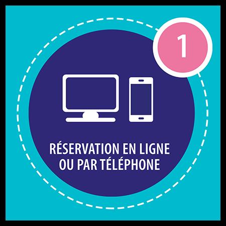 Réservation en ligne ou par téléphone