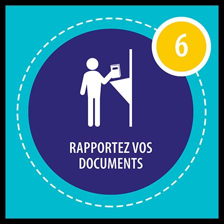 Rapportez vos documents