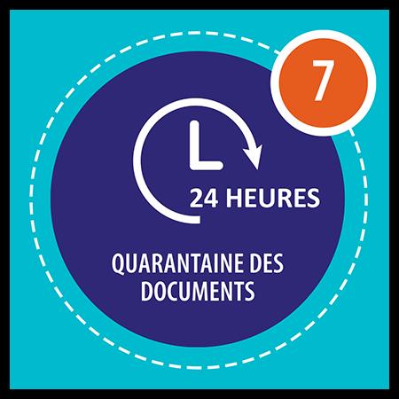 Quarantaine des documents