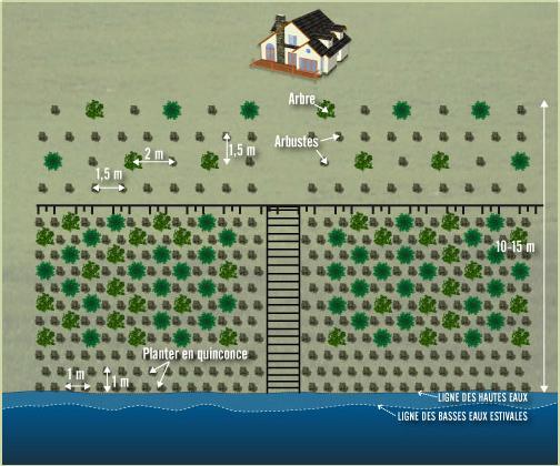 Terrain sablonneux plan